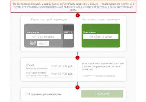 Как перевести деньги с карты ОТП Банка на карту Сбербанка