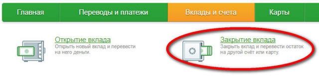 Как закрыть вклад в Сбербанк Онлайн через мобильное приложение