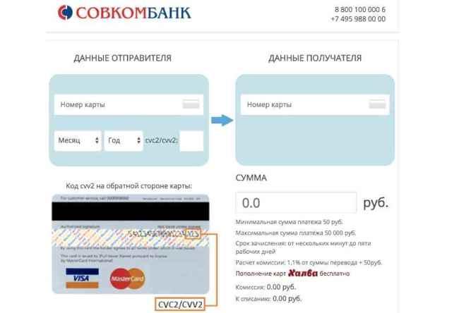 Как перевести деньги с карты Совкомбанка на карту Сбербанка