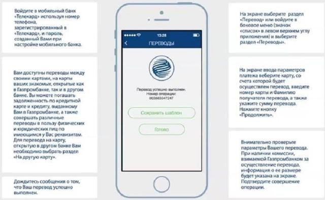Как перевести деньги с карты Газпромбанка на карту Сбербанка через телефон