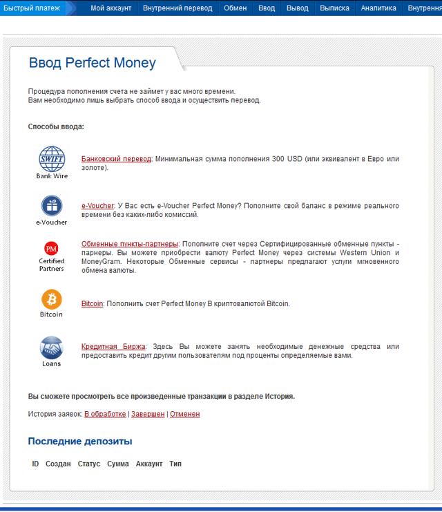 Как пополнить Перфект Мани с карты Сбербанка или через Сбербанк Онлайн
